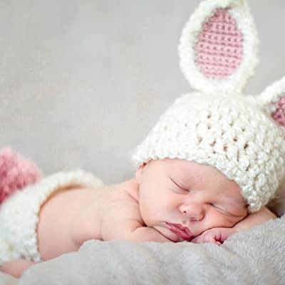 Baby Girl Easter Bunny Newborn Photo Prop Outfit Costume