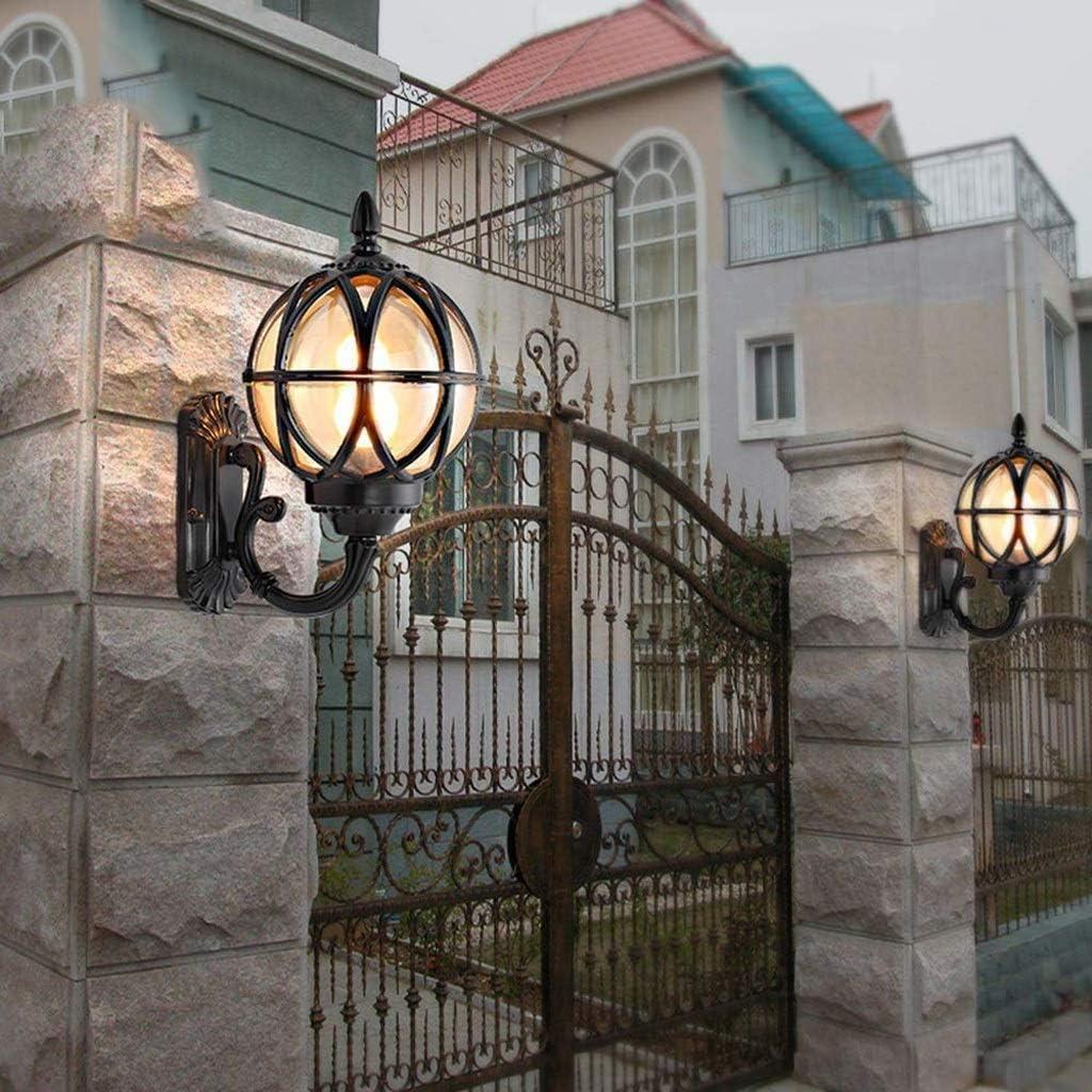 Large,Black Berlato Outdoor Waterproof Wall Lights Courtyard ...