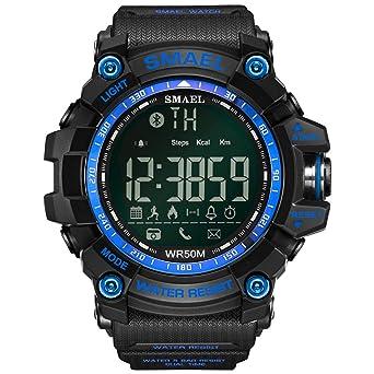 Beydodo Relojes Electronicos Reloj Deportivo Relojes Bluetooth Hombre Reloj Inteligente Reloj Smartwatch Reloj Paso Azul: Amazon.es: Relojes