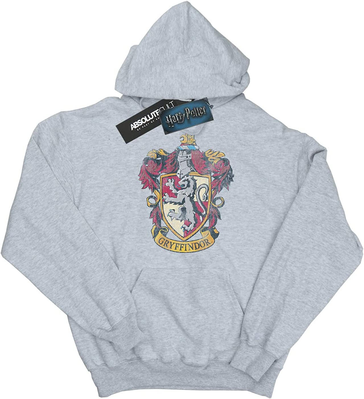HARRY POTTER Girls Gryffindor Distressed Crest Hoodie