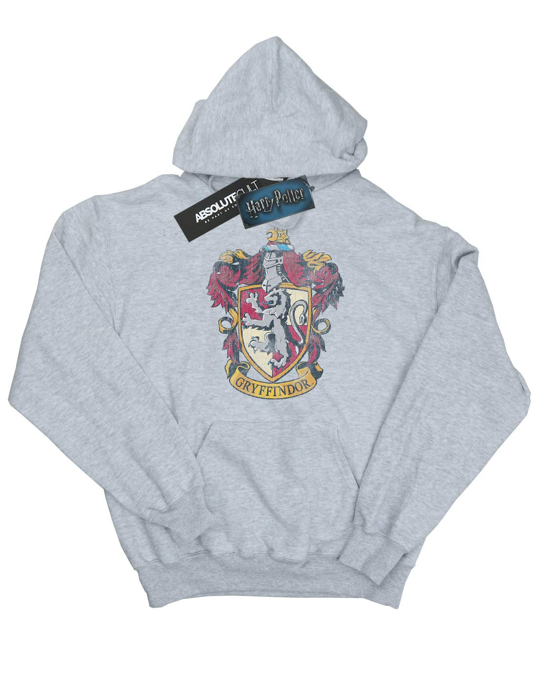 HARRY POTTER Girls Gryffindor Distressed Crest Hoodie 9-11 Years Sport Grey by HARRY POTTER (Image #2)