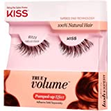 KISS True Volume Multi-Layered False Eyelashes with Tapered End Technology, 100% Natural Hair, Cruelty Free, Reusable, Contac