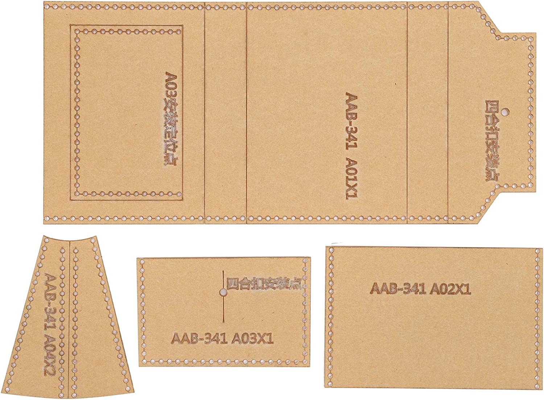 Plantilla de acrílico de 4 piezas, conjunto de plantillas de fabricación de bolsas de tarjetas transparentes, patrón de cuero hecho a mano, molde de dibujo de billetera, accesorios de plantillas de ar