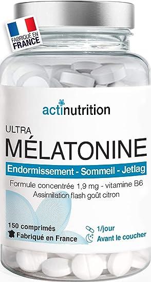 Melatonina Pura 1,9 mg + Vitamina B6 - 150 Cápsulas. Facilita la Conciliación y Mejora Calidad del Sueño | Reduce Estrés, Ansiedad, Insomnio | Regulador del reloj biológico | Fabricado en Francia: Amazon.es: Salud y cuidado personal