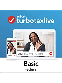 TurboTax Live Basic 2018, Do Your Federal Taxes Online with a Live CPA Onscreen. Start for Free, Pay $79.99 When You File...