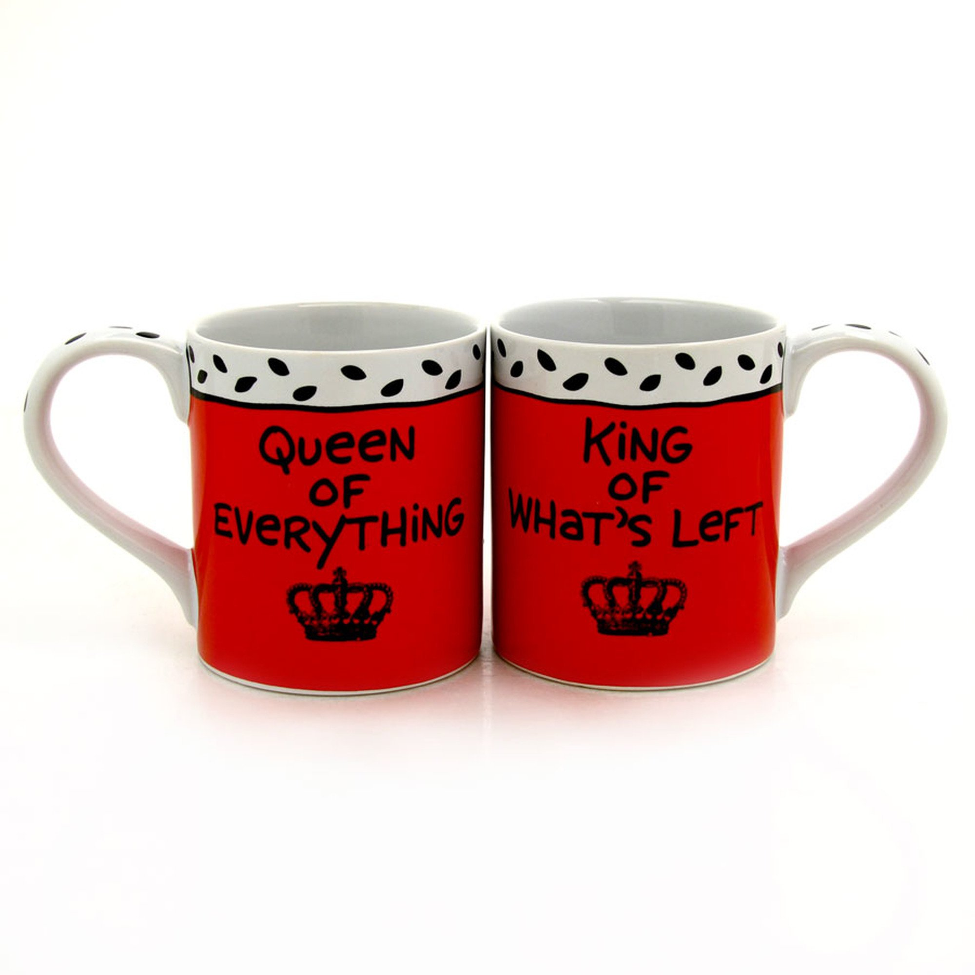 """Our Name is Mud """"King & Queen"""" Stoneware Mug Set, 12 oz. each"""