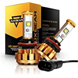 Auxbeam H11 LED Bulbs, H8 H9 H11 Led Conversion Kit 60W 6000lm XHP50 LED Chips Fog Light F-16 Series