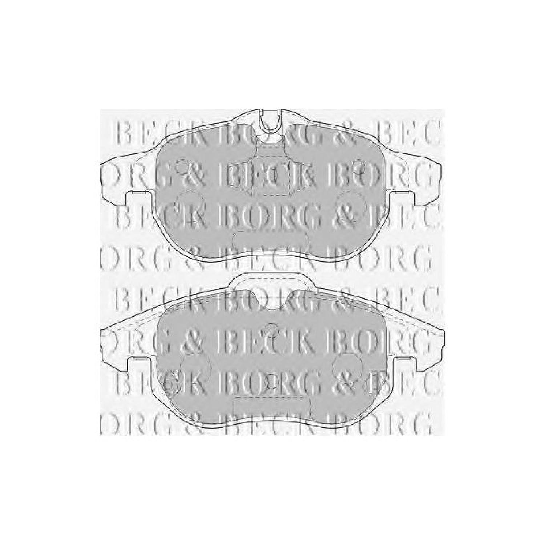 Ate - Teves Borg /& Beck BBP1765 Front Brake Pads
