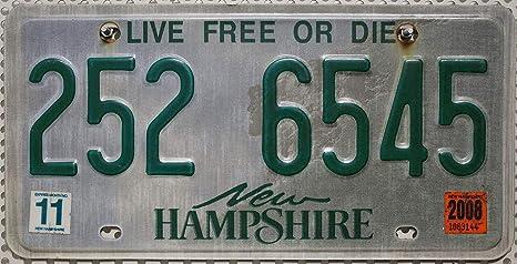Targa Usa New Hampshire Us Targa License Plate Targa In Metallo