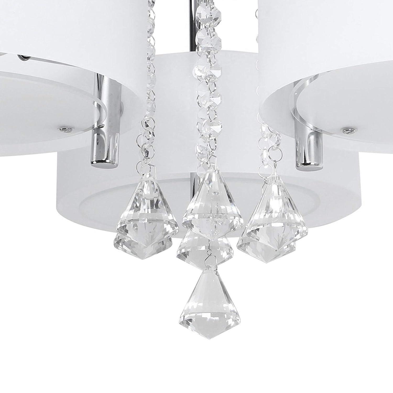 Lampadari Rotondi Moderni.Moderno Lampadario Da Soffitto Con 5 Punti Luce Rotondi In