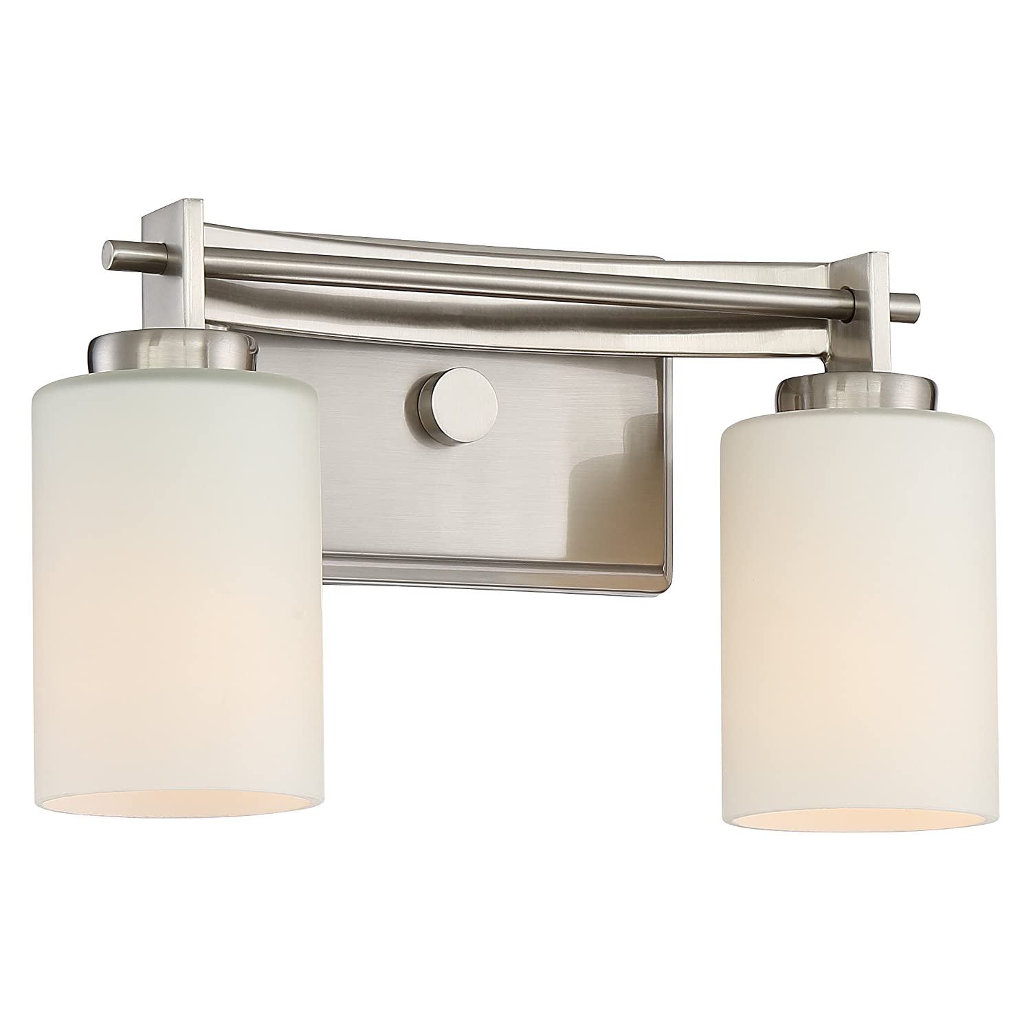 Quoizel TY8602BN Taylor Bath Vanity Wall Lighting, Lights 2-Light, 200 Watts, Brushed Nickel 8 H x 13 W
