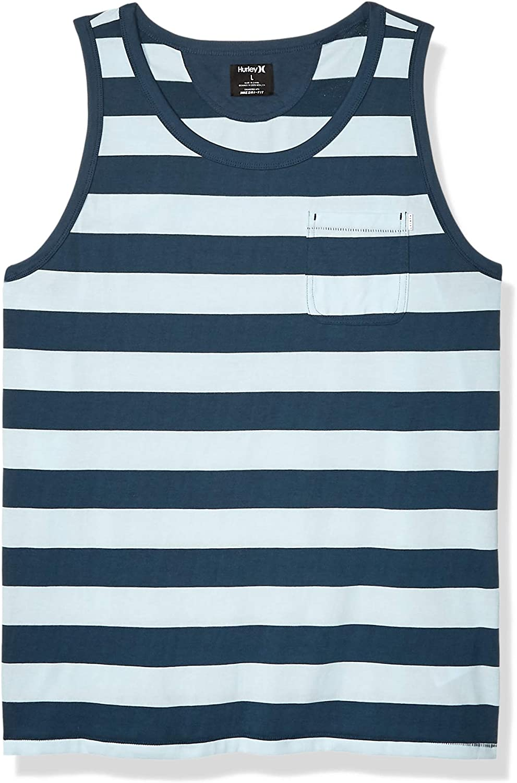 Hurley Mens Dri-fit Harvey Stripe Tank Top