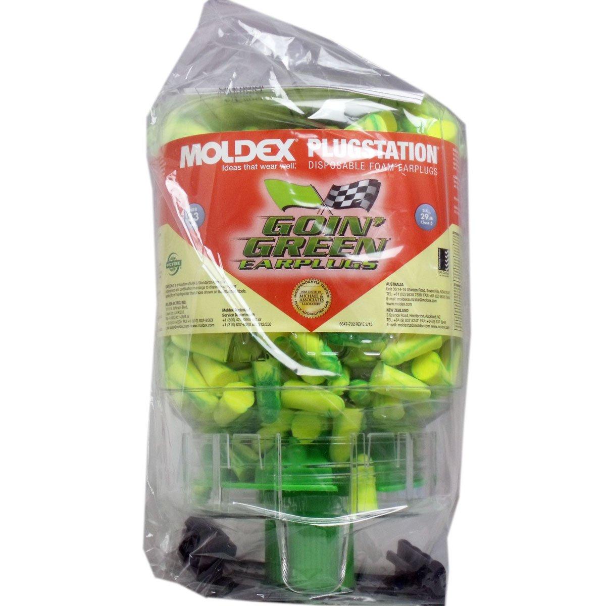 MOLDEX モルデックス 耳栓 ひも無【ゴーイングリーン】プラグステーション ディスペンサー/250ペア B00ZYX6VF6