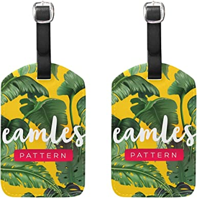 Banana Pattern Baggage Tag For Travel Tags Accessories 2 Pack Luggage Tags