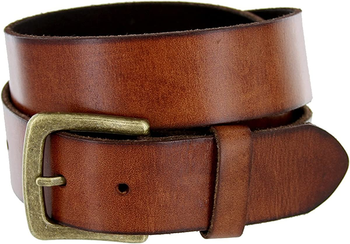 Pele Belt Men 1-1//2 Wide Genuine Full Grain Leather Antique Finish Buckle