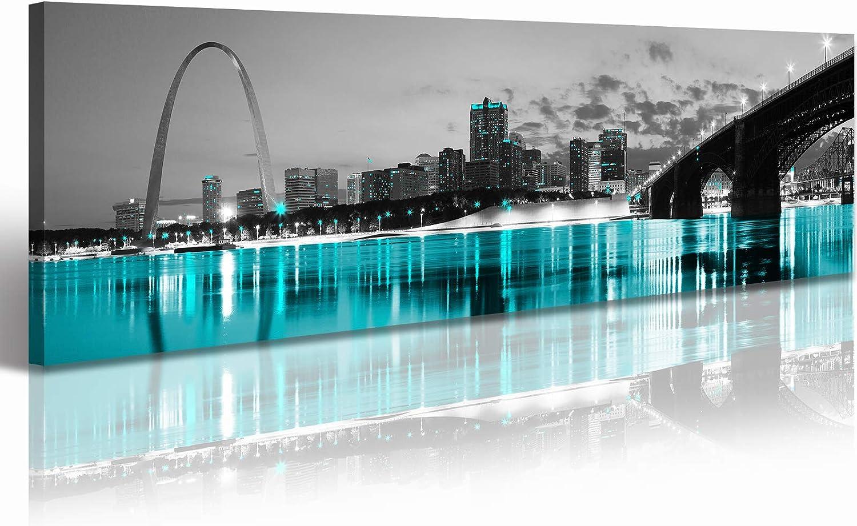 Louis City Sky Line Silouette Chic Wall Décor Metal Sign 106180028042 St