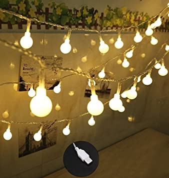 Amazon.com: 100 LED Globe String Lights, Ball Christmas Lights ...