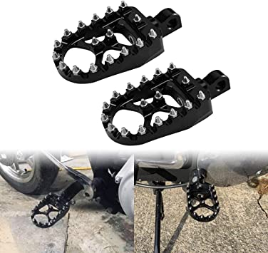 YHMTIVTU CNC Wide Foot Pegs 360/° Rotating Footpegs Fits for Harley Dyna Fatboy Street Bob Sportster Bobber Chopper Black