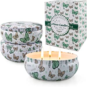 Gisly Citronella Candle Outdoor 13.5 oz Large Citronella Scented Candle Portable 3 Pcs Long Last Soy Wax Candle for Outdoor,Garden,Patio,Balcony