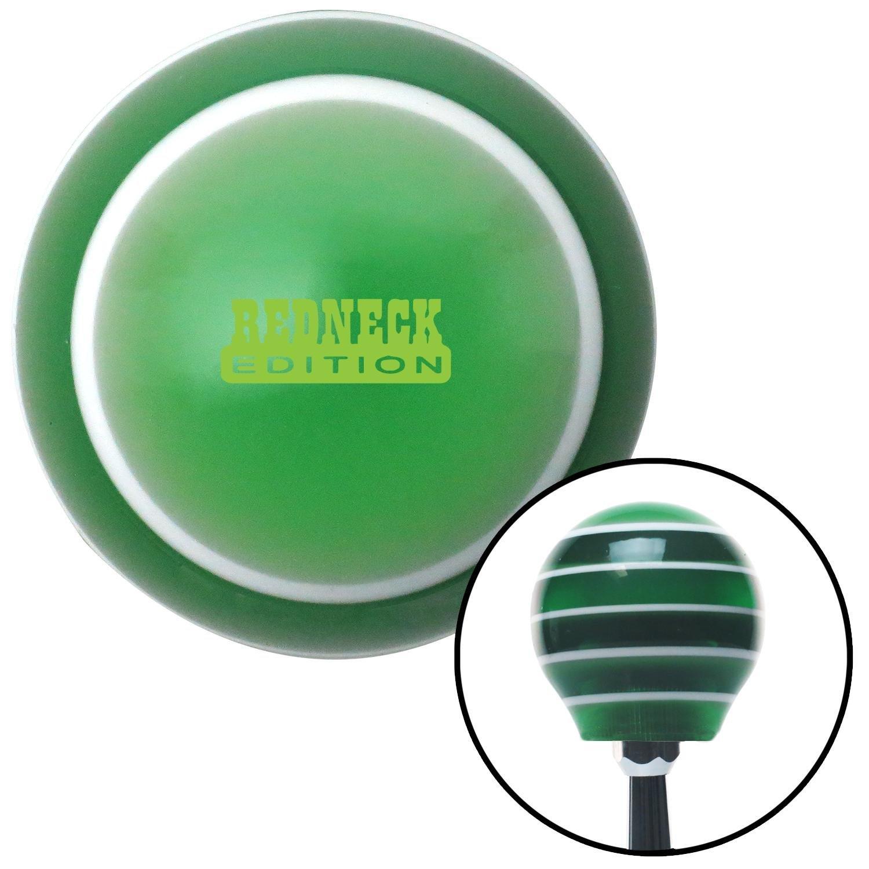 Green Redneck Edition Green Stripe with M16 x 1.5 Insert American Shifter 275900 Shift Knob
