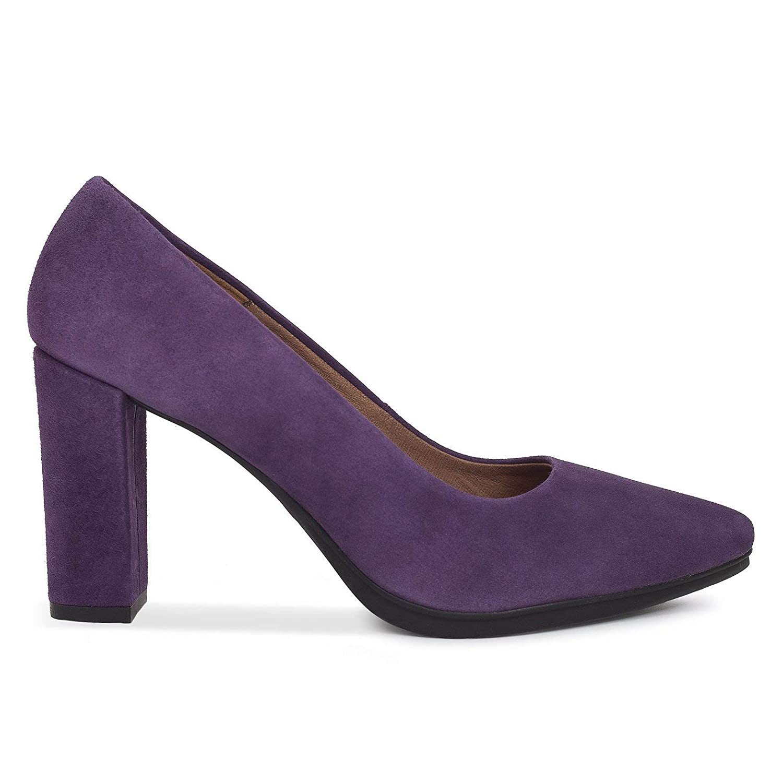 Zapatos Salón. Zapatos Piel Mujer Hechos EN ESPAÑA. Zapatos Tacón Berenjena. Zapato Mimao. Zapatos Mujer Tacón. Zapatos Mujer Fiesta y Baile Latino. Zapato Cómodo Mujer con Plantilla Confort Gel