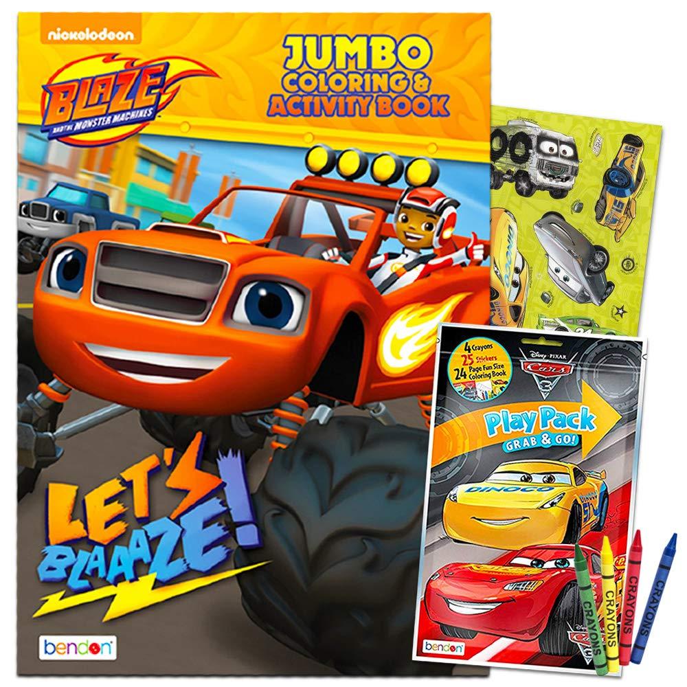 Amazon.com: Blaze y el monstruo máquinas para colorear y ...