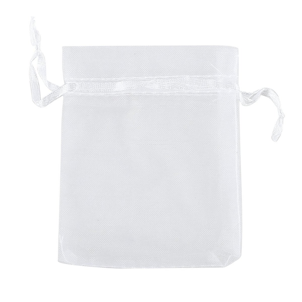 Skhls 50 Organza Drawstring Gift Pouches Wedding Gift Bags (11 sizes available, 7'' X 11'')