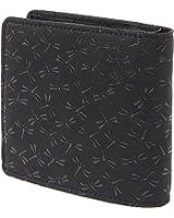 INDEN-YA 印傳屋 印伝 財布 二つ折り財布 メンズ 男性用 黒×黒 とんぼ 2008-01-008