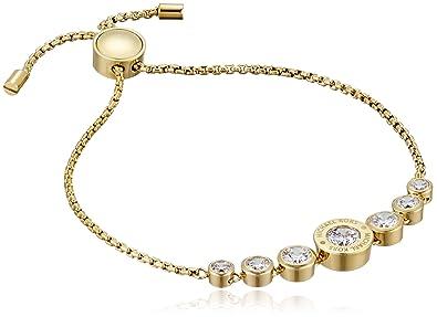 9de03d318264 Amazon.com  Michael Kors Logo Gold-Tone and Jet Set Crystal Slider Bangle  Bracelet  Jewelry