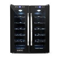 Klarstein SaloonNapa Weinkühlschrank 67L 2 Glastüren 11-18°C schwarz