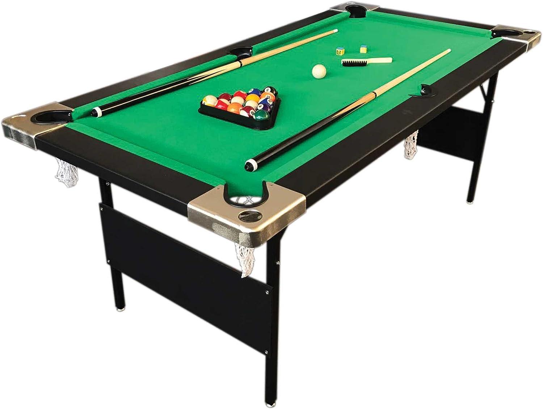 6 piedi Mesa de Billar pleglabe mod. ALADIN carambole medición 158 x 66 cm robusta y resistente!: Amazon.es: Juguetes y juegos
