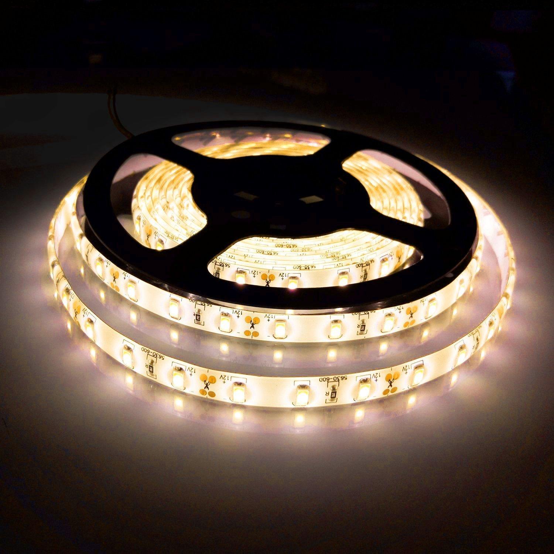 Bogao Flexible Led Strip Light,DC12V 5 Meter 300 LEDs 5630 SMD 16.4Ft, Waterproof IP65,brighter than SMD LED Ribbon, LED Tape Light Warm White [Energy Class A+] strip-5630V
