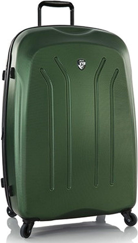 Equipaje, Maletas y Bolsas de Viaje - Premium Designer Maleta Rígida - Heys Crown Lightweight Pro Verde Trolley con 4 Ruedas Media