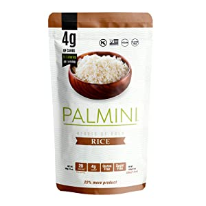 NEW!! Palmini Low Carb Rice | 4g of Carbs | As Seen On Shark Tank | Gluten Free | Hearts of Palm Rice (12 Ounces Pouch (Pack of 1))