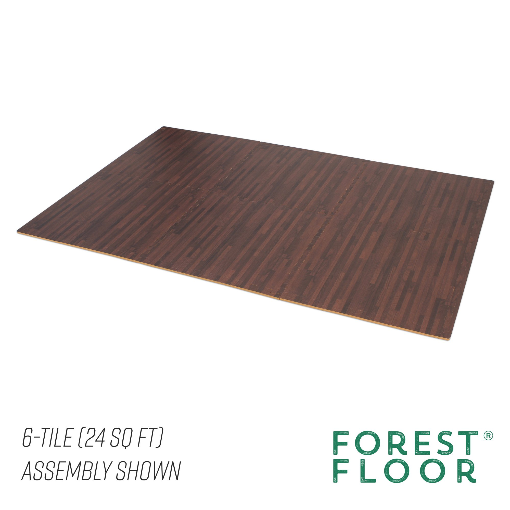 Forest Floor 3/8'' Thick Printed Wood Grain Interlocking Foam Floor Mats, 16 Sq Ft (4 Tiles), Cherry by Forest Floor (Image #5)