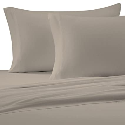 Charmant Brielle Cotton Jersey Knit (T Shirt) Sheet Set, California King, Linen