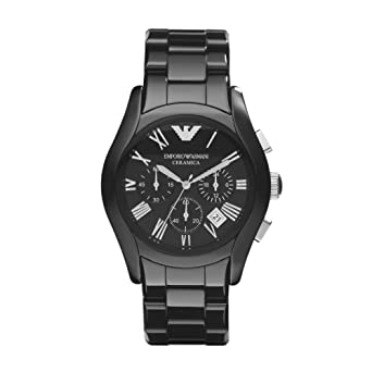 40f7ee4bb11 Amazon.com  Emporio Armani Men s AR1400 Dress Black Watch  Emporio ...