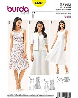 Burda B6655/Schnittmuster Kleid und Shirt Papier wei/ß 19/x 13/x 1/cm