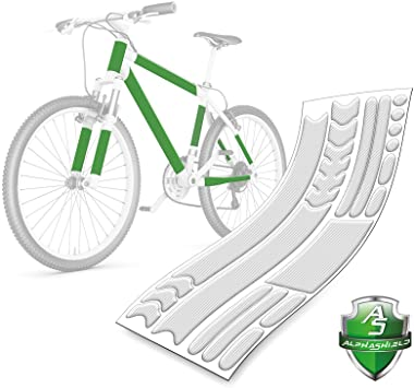 AlphaShield 21 piezas de pintura transparente de protección cinematográfico cadena montantes de bastidor protector de bicicletas para Transparente, brillo transparente ORAGUARD 150m 270 Piedra: Amazon.es: Deportes y aire libre