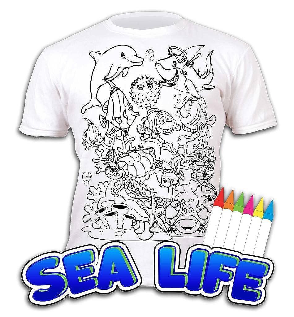 Splat Planet Camiseta Sea Life Deifín para Niños y Niñas. con ...