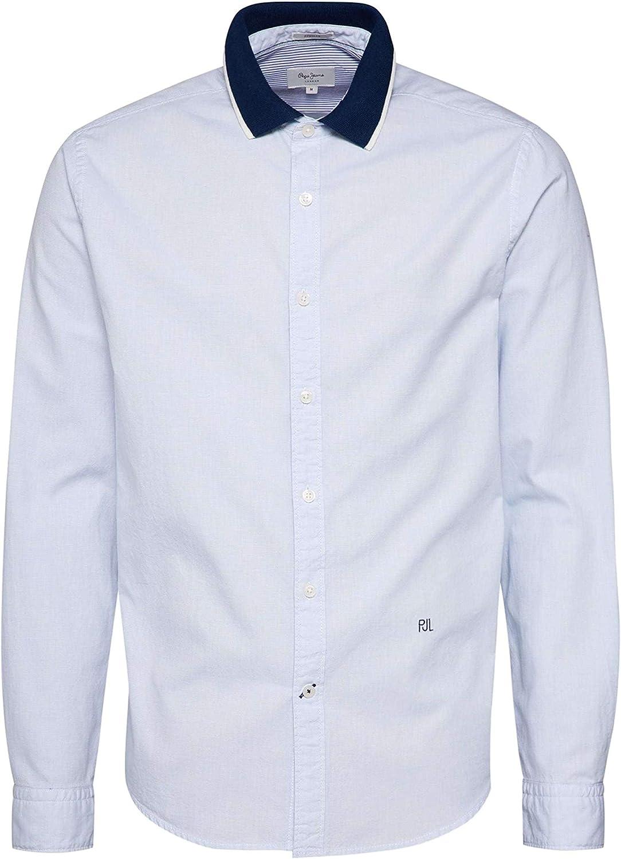 PEPE JEANS HOME - Camisa de Manga Larga Hombre Color: BlaucelAzul Talla: S: Amazon.es: Ropa y accesorios
