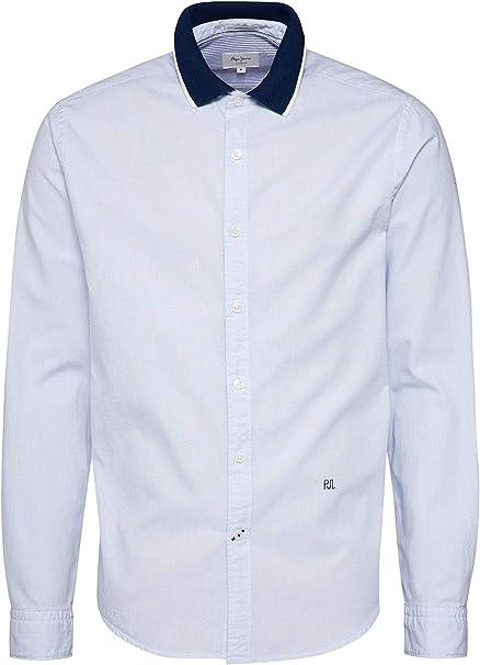 PEPE JEANS HOME - Camisa de Manga Larga Hombre Color: BlaucelAzul ...