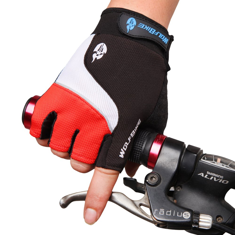 Apparelsales Outdoor Sport Fabric Windproof Cycling Rocking Hiking Hunting Short Gloves