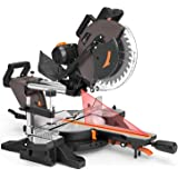 Compound Miter Saw, TACKLIFE 12-Inch Double Sliding Miter Saw With 15 Amp Motor, Double-Bevel Cutting (-45°-0°-45…