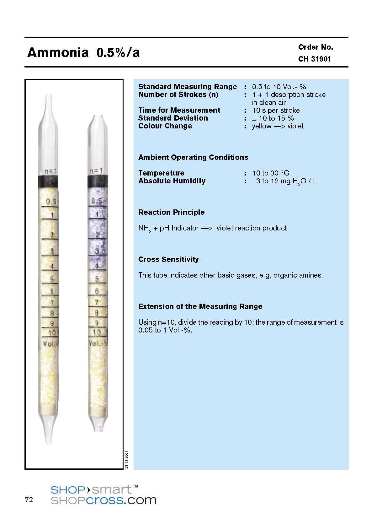 Ammonia 0.5%/a CH31901 Draeger Tube by Dräger (Image #1)
