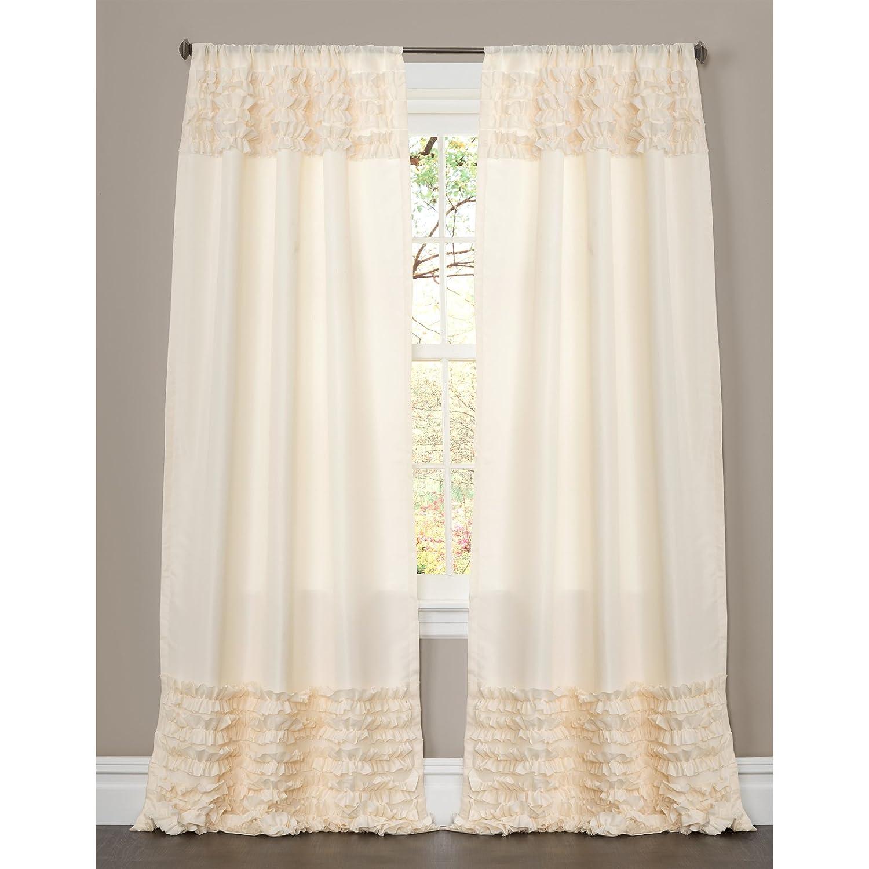 Ivory C08188Q13 84 by 54-Inch Lush Decor Skye Window Curtain Panel