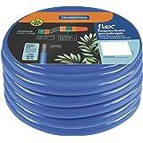 Mangueira flexível para jardim 30 m com engates e esguicho azul - Flex - Tramontina