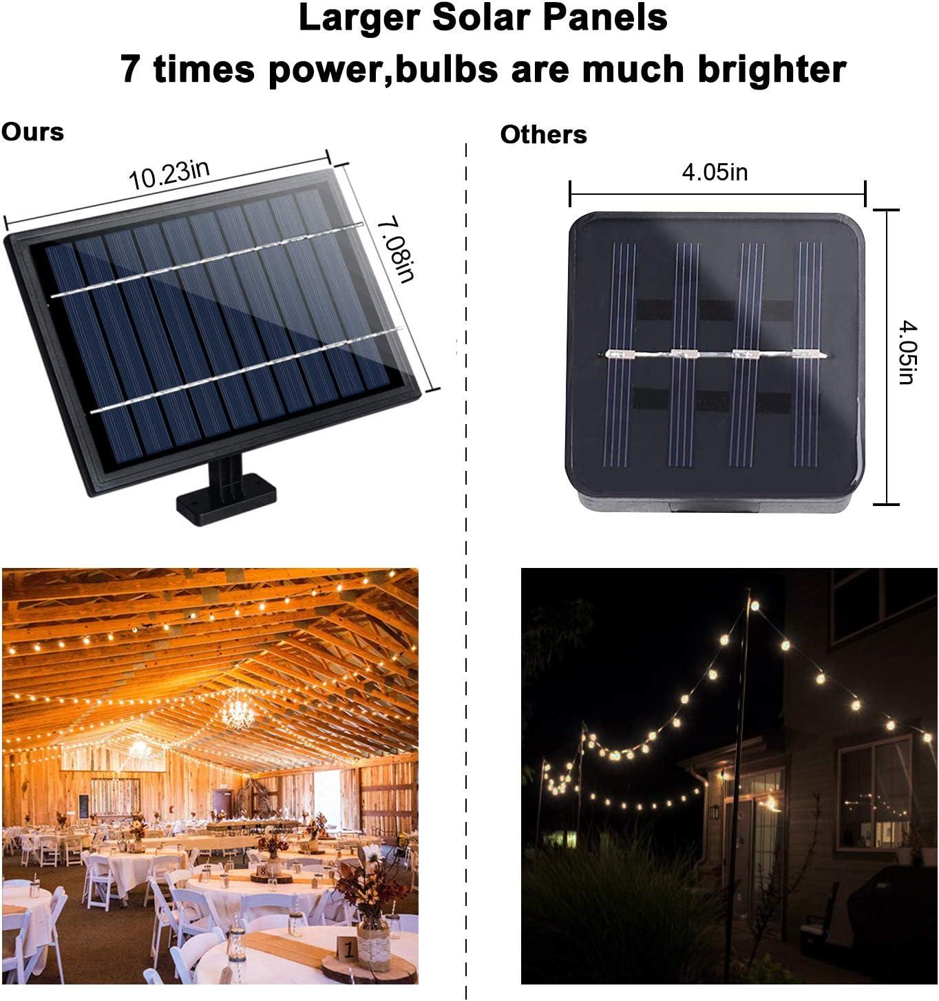 Svater Solares Cadena de Bombillas Las Luces de la Secuencia de Los 52 Bulbos Luces del Patio Para el Café del PóRtico del Partido: Amazon.es: Iluminación