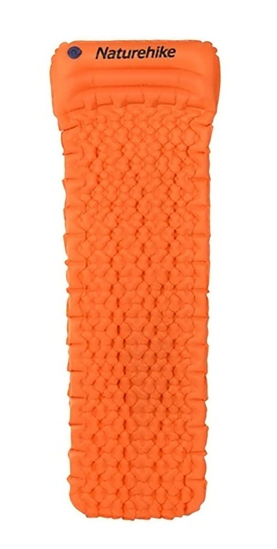 Naturehike 屋外 インフレータブルクッション 寝袋マット 高速充填 空気防湿 キャンプマット 枕睡眠パッド 460グラム B07F2XYW5Y  Orange