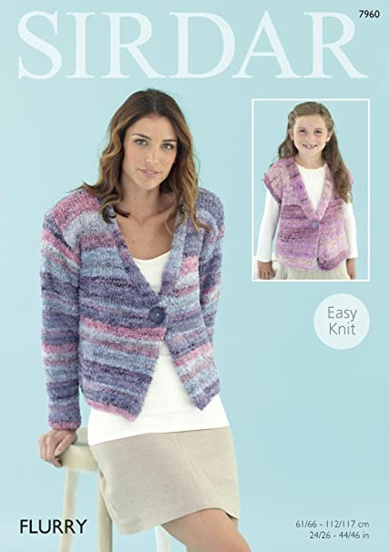 Sirdar 7960 Knitting Pattern Women And Girls Easy Knit Jackets In